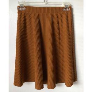 ModCloth Mustard Skater Skirt